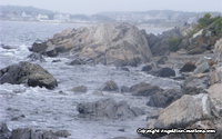 Image: Rocks and breaking waves at Seabrook Beach, New Hampshire